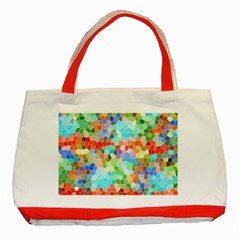 Colorful Mosaic  Classic Tote Bag (red)
