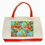 Colorful Mosaic  Classic Tote Bag (Red) Front
