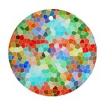 Colorful Mosaic  Round Ornament (Two Sides)  Front