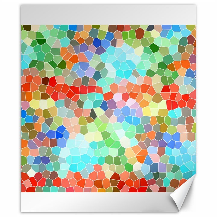 Colorful Mosaic  Canvas 8  x 10