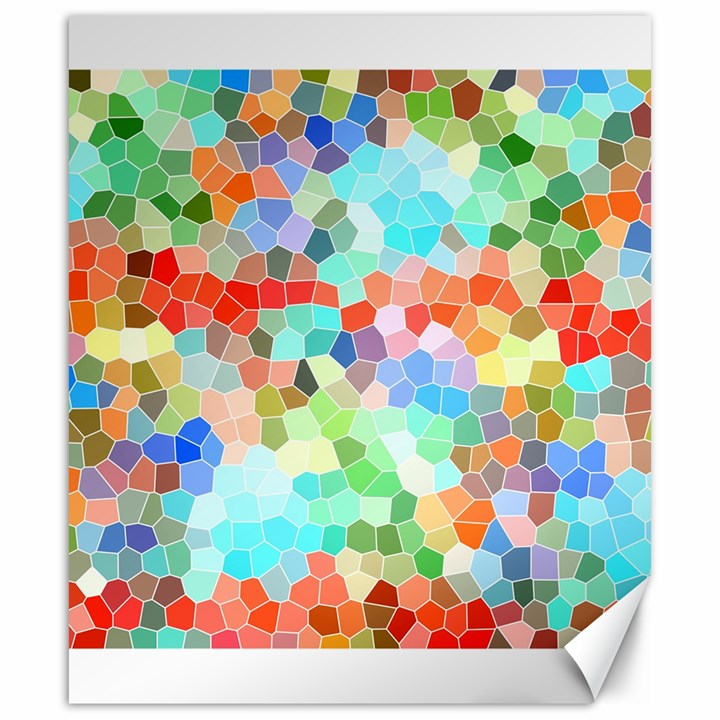 Colorful Mosaic  Canvas 20  x 24