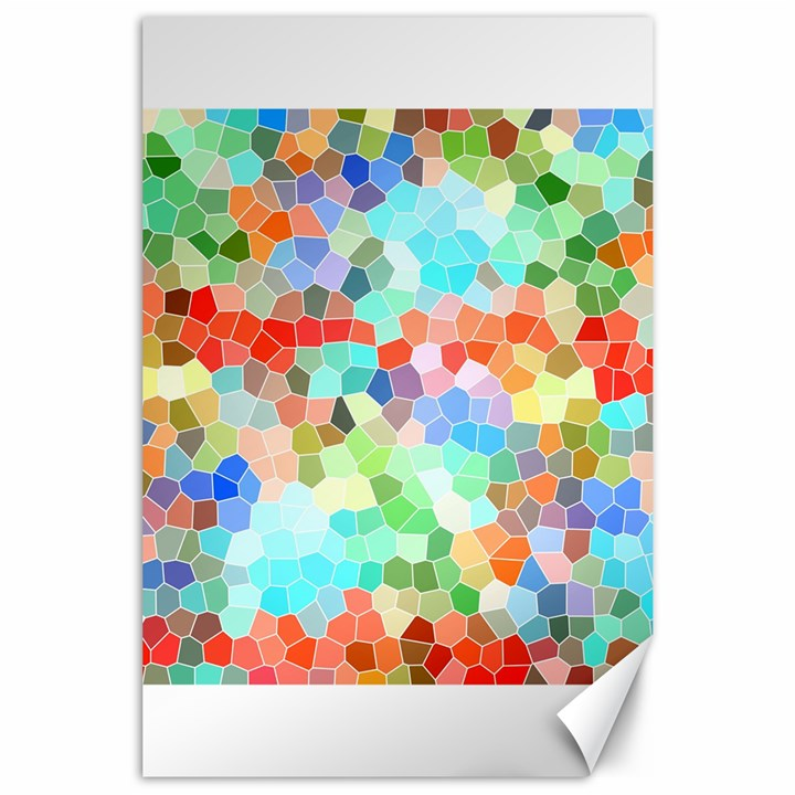 Colorful Mosaic  Canvas 24  x 36