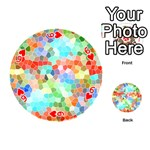 Colorful Mosaic  Playing Cards 54 (Round)  Front - Heart6