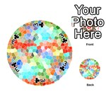Colorful Mosaic  Playing Cards 54 (Round)  Front - Club3