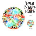 Colorful Mosaic  Playing Cards 54 (Round)  Front - Club8