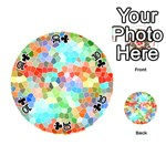 Colorful Mosaic  Playing Cards 54 (Round)  Front - Club10