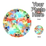 Colorful Mosaic  Playing Cards 54 (Round)  Front - Spade10