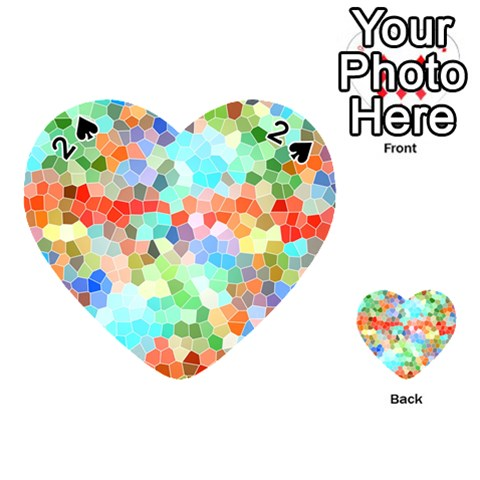 Colorful Mosaic  Playing Cards 54 (Heart)