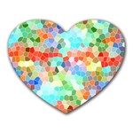 Colorful Mosaic  Heart Mousepads Front