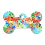 Colorful Mosaic  Dog Tag Bone (Two Sides) Front