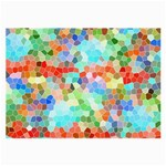 Colorful Mosaic  Large Glasses Cloth (2-Side) Back
