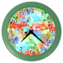 Colorful Mosaic  Color Wall Clocks