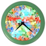 Colorful Mosaic  Color Wall Clocks Front