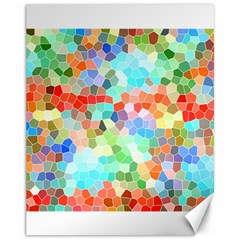 Colorful Mosaic  Canvas 11  x 14