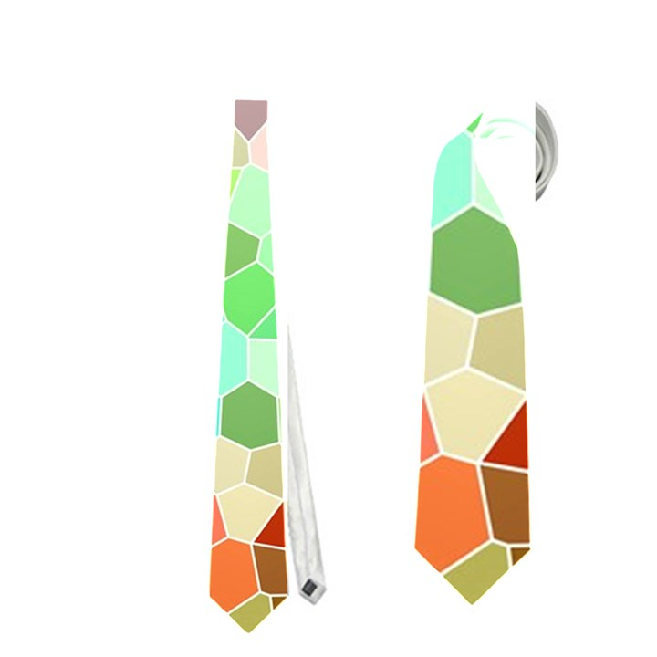 Colorful Mosaic  Neckties (Two Side)