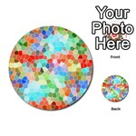 Colorful Mosaic  Multi-purpose Cards (Round)  Back 36