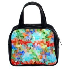 Colorful Mosaic  Classic Handbags (2 Sides)