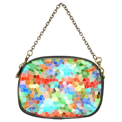 Colorful Mosaic  Chain Purses (Two Sides)