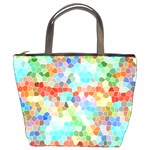 Colorful Mosaic  Bucket Bags Front
