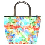 Colorful Mosaic  Bucket Bags Back