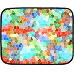 Colorful Mosaic  Fleece Blanket (Mini) 35 x27 Blanket