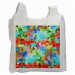 Colorful Mosaic  Recycle Bag (One Side) Front