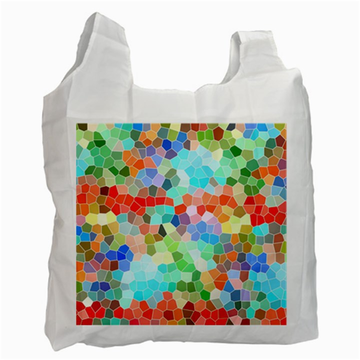 Colorful Mosaic  Recycle Bag (One Side)