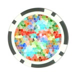 Colorful Mosaic  Poker Chip Card Guards (10 pack)  Front