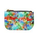 Colorful Mosaic  Mini Coin Purses Front