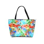 Colorful Mosaic  Shoulder Handbags Front