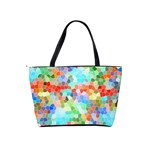 Colorful Mosaic  Shoulder Handbags Back