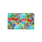 Colorful Mosaic  Cosmetic Bag (Small)  Back
