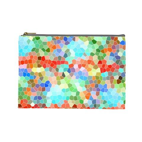 Colorful Mosaic  Cosmetic Bag (Large)