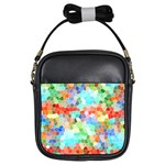 Colorful Mosaic  Girls Sling Bags Front