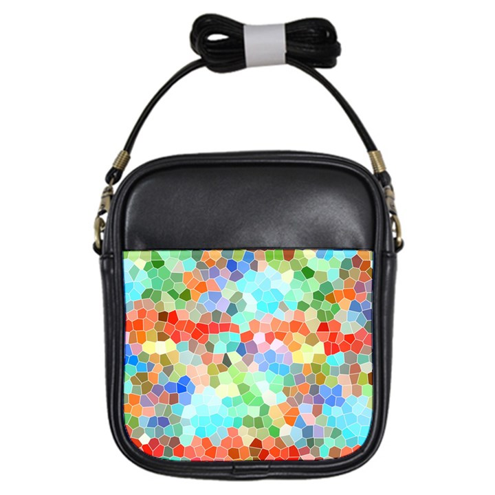 Colorful Mosaic  Girls Sling Bags