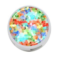 Colorful Mosaic  4-Port USB Hub (Two Sides)