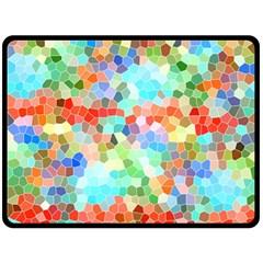Colorful Mosaic  Fleece Blanket (large)