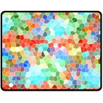 Colorful Mosaic  Fleece Blanket (Medium)  60 x50 Blanket Front