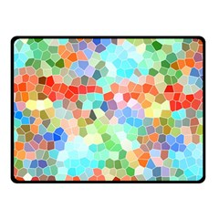 Colorful Mosaic  Fleece Blanket (Small)