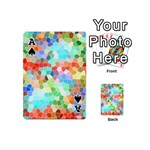 Colorful Mosaic  Playing Cards 54 (Mini)  Front - SpadeA