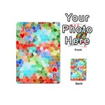Colorful Mosaic  Playing Cards 54 (Mini)  Front - Heart3