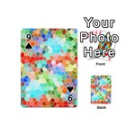 Colorful Mosaic  Playing Cards 54 (Mini)  Front - Spade9