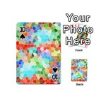 Colorful Mosaic  Playing Cards 54 (Mini)  Front - Spade10