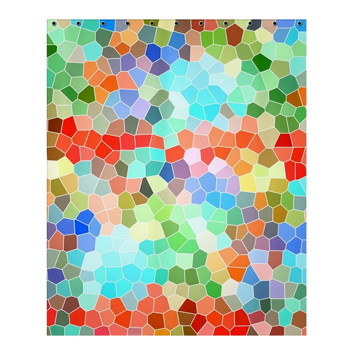 Colorful Mosaic  Shower Curtain 60  x 72  (Medium)