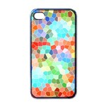 Colorful Mosaic  Apple iPhone 4 Case (Black) Front