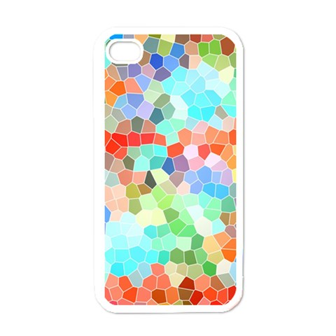 Colorful Mosaic  Apple iPhone 4 Case (White)