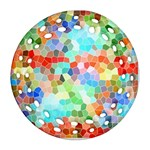 Colorful Mosaic  Round Filigree Ornament (2Side) Back