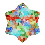 Colorful Mosaic  Snowflake Ornament (2-Side) Front
