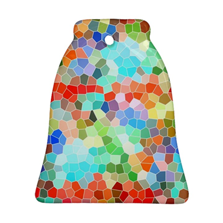 Colorful Mosaic  Bell Ornament (2 Sides)