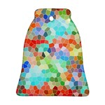 Colorful Mosaic  Bell Ornament (2 Sides) Back